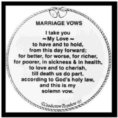 Marriage Wedding Vows | Christian Marriage Vows..i love reading ...