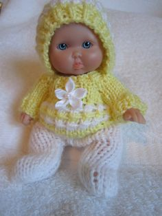 Knit Doll Clothes Soft Yellow Sweater and Leggings Set by WeGirls, $9.00