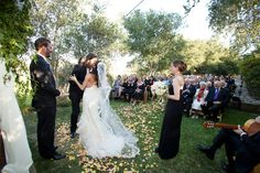 Firestone Vineyard ceremony/ by Soigné Productions, Toast of Santa Barbara, photographed by Melissa Musgrove