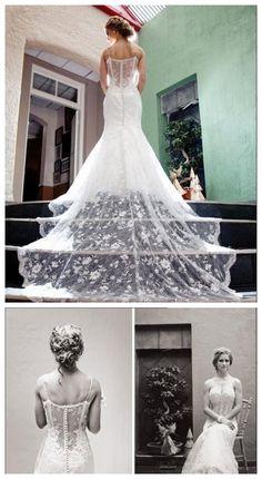 Wedding Dresses,2016 Wedding Gown,Lace Wedding Gowns,Bridal Dress,Fitted Wedding Dress,Brides Dress,Vintage Wedding Gowns,Straps Wedding Dress https://bellanblue.com