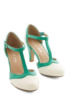 Chelsea Crew Vintage Inspired Jade Upgrade Heel