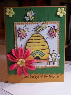Just Buzzin' By, Card, Stampin UP. $3.00, via Etsy.