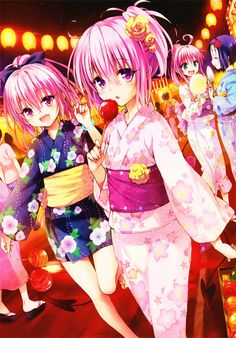 Home Decor Anime To Love Ru Darkness Eve Momo Wall Scroll Poster Fabric Painting inch 261