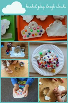 scrumdilly-do!: beaded play dough clouds