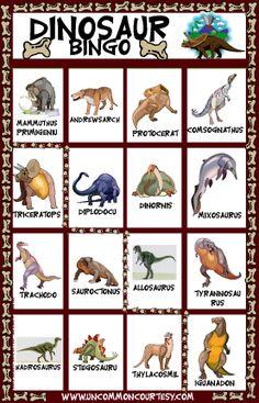 Dressed Up Dinosaur Bingo Game
