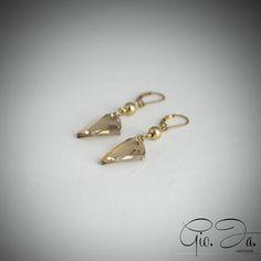 Golden Avant Garde Earrings