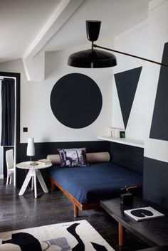 Would you paint giant geometric shapes on your wall in place of art? We're officially intrigued.