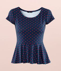 Got this today, but with white polka dots instead. It will be perfect with my red pants!