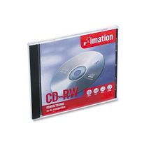imation® - CD-RW Disc, 700MB/80min, 4x, w/Slim Jewel Cases, Silver, 1/Pack - Sold As 1 Each - Keep data organized. by imation Products. $4.17. imation® - CD-RW Disc, 700MB/80min, 4x, w/Slim Jewel Cases, Silver, 1/PackKeep data organized: whether it's temporary storage, file sharing, or archiving, this highly-quality media fits all your data storage needs. Rewritable up to 1,000 times for long-term performance. Reliable, noise-free playback makes this an ideal...