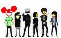 Deadmau5, Skrillex, Daft Punk and Justice