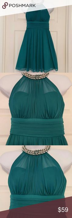 Dress  by Speechless Beaded neck.  Size 3  The color is spruce.    Nwt.  This dress  has never been worn. Speechless Dresses