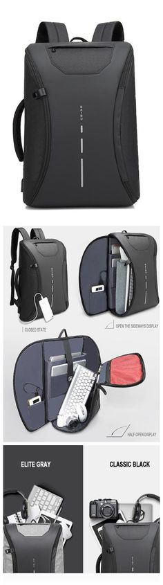 985de471db New Design USB Charging Men s Backpacks Male Casual Travel women Teenagers Student  School Bags Simple Notebook