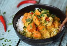 Amouk - a khmer sárga curry Gnocchi, Ratatouille, Thai Red Curry, Feta, Potato Salad, Bacon, Potatoes, Chicken, Ethnic Recipes
