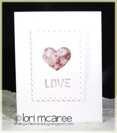 For this weeks CASology challenge I made this love shaker card using shaved ice glitter and micro beads on the inside of the heart.  Quick fun card to make! Thanks so much for looking!  [url=http://smilingwhilestamping.blogspot.com/2015/02/week-133-love.html]My Blog[/url]