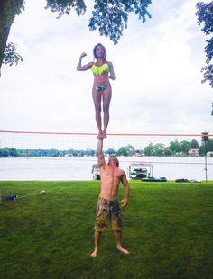Cupie #coed stunts #cheerleading #bikini stunting