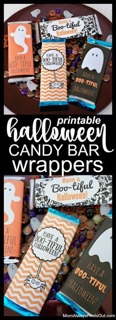 Have a Boo-tiful Halloween! Free Printable Candy Bar Wrappers
