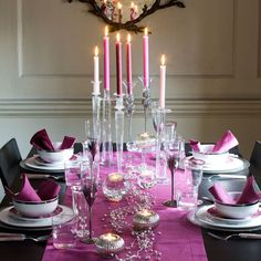 christmas table decorations in purple - Google Search