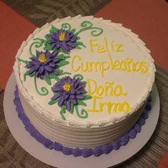 #felizcumpleaños #crisantemos #lila #yellow #cake