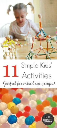 11 Simple Kids Activities for Mixed Ages