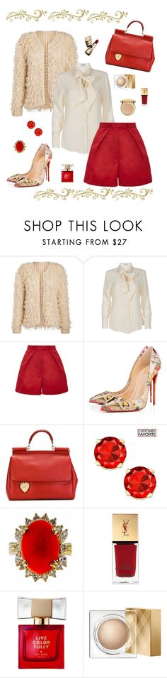 """""""Untitled #219"""" by maurogianni-za ❤ liked on Polyvore featuring Frame Denim, Zac Posen, Christian Louboutin, Dolce&Gabbana, Yves Saint Laurent, Guerlain, Kate Spade, Burberry and Christian Dior"""