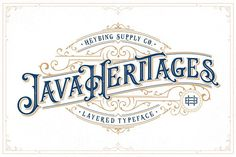 Java Heritages + Extras by Heybing Supply Co. on @creativemarket