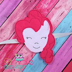 Pink Pony Curtain Tie Back Embroidery Design - 5x7 or Larger - E&Me Designs