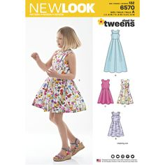 NEWLOOK 6360 TWEENS paper pattern Dresses size 8-16 years NEW