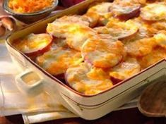 We say scalloped potatoes with our delicious Sargento® Fancy Shredded Colby-Jack Cheese. And everyone will say red potatoes have never tasted better. Enjoy them with any meal. Food Network Recipes, Food Processor Recipes, Cooking Recipes, Cooking Time, I Love Food, Good Food, Yummy Food, Potato Dishes, Potato Recipes
