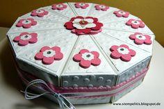 Stempelitis, Papiertorte als Geschenk zu Geburtstag, Hochzeit, oder ..., Stampin up