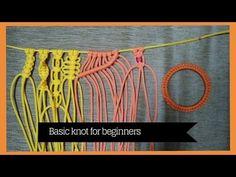 Basic macrame knots for Beginners | learn Macrame Art - YouTube