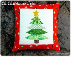 Pattern and Tute: Oh Christmas Tree cushion · Quilting | CraftGossip.com