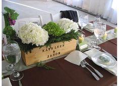 Image detail for -Mrs Vino Wine Box Centerpiece : wedding centerpieces diy hydrangea ...