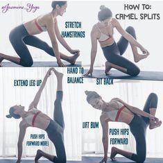 Camel splits #YoYoYoga-PosesandRoutines