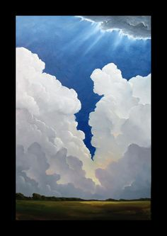 ...by Wm. Hawkins    TITLE: Split The Sky    SIZE: 36x24 inches    This new painting is signed and finished with a quality artists varnish for protection