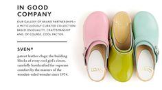 Love these Sven patent leather clogs.