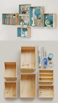 New room decor ideas diy for girls shelves Ideas Handmade Home Decor, Cheap Home Decor, Handmade Ideas, Teenage Girl Room Decor, Ideas Prácticas, Decor Ideas, Decorating Ideas, Craft Ideas, Project Ideas