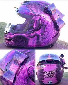 luckyyogi helmet bow being repped by @blukawichick #handmade #luckyyogihelmetbow #helmetbow #helmetbows #womenwhoride #bikerchick