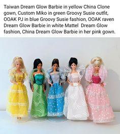 Pink Gowns, Barbie Dolls, Angels, Glow, Dark, Friends, Outfits, Fashion, Amigos