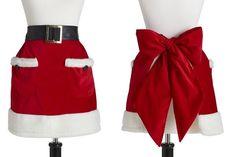 Claus Half Doris Apron I want to make this! Christmas Aprons, Christmas Sewing, Christmas 2014, Little Christmas, Winter Christmas, All Things Christmas, Christmas Crafts, Merry Christmas, Christmas Decorations