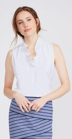 1844659482dc9 White Durham Sleeveless Ruffle Top - Women Women