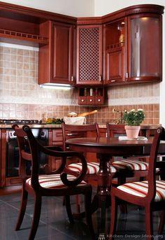 Italian Kitchen Design From Ideas Org Cherry Cabinets