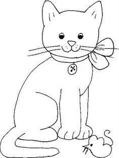 Appliqué cat - a possibility Cat Quilt Patterns, Applique Patterns, Applique Quilts, Applique Designs, Embroidery Applique, Machine Embroidery, Cat Template, Templates, Cat Mouse