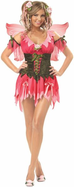 Rose Fairy Adult Plus Costume,$52.99