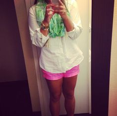 neon pink chinos