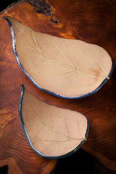 Pair of Catalpa Leaves - Foodsafe