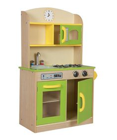 Take a look at this Deluxe Wooden Kitchen Set by TEAMSON on #zulily today!