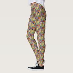 Shop Colorful geometric art leggings created by Fineartaccessories. Cute Leggings, Hat Shop, Geometric Art, Leggings Fashion, Dressmaking, Things That Bounce, Active Wear, Pajama Pants, Stylish