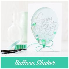 This balloon shaker is inspired by the gorgeous confetti filled balloons I