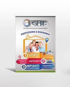 Brochure pubblicitaria realizzata dallo Studio Grafico Think Talk di Giovanni Di Pierno per Saie Impianti - www.giovannidipierno.it