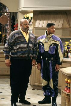 James Avery as Phillip Banks and Will Smith in The Fresh Prince of Bel-Air